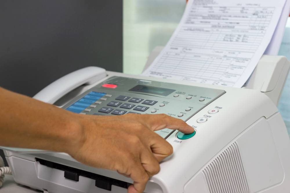fax machine in the office