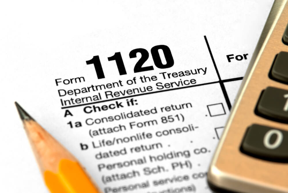 Filling out a Form 1120