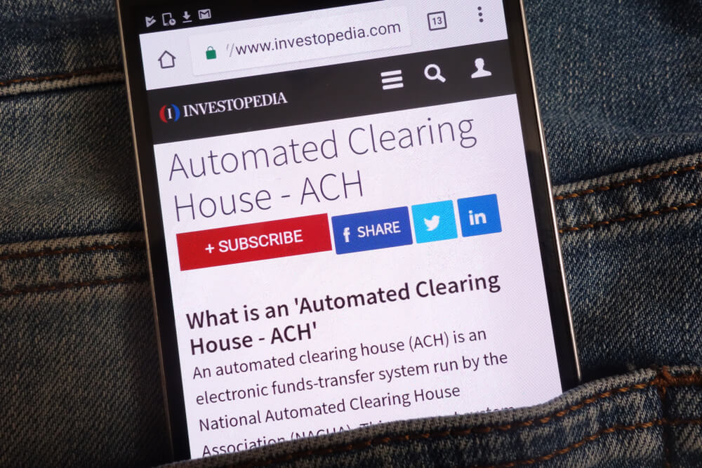 What Does Automated Clearing House Mean