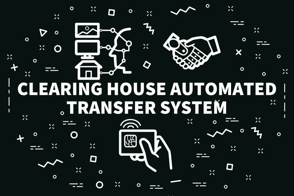 Business Illustration With the Words Clearing House Automated Transfer System